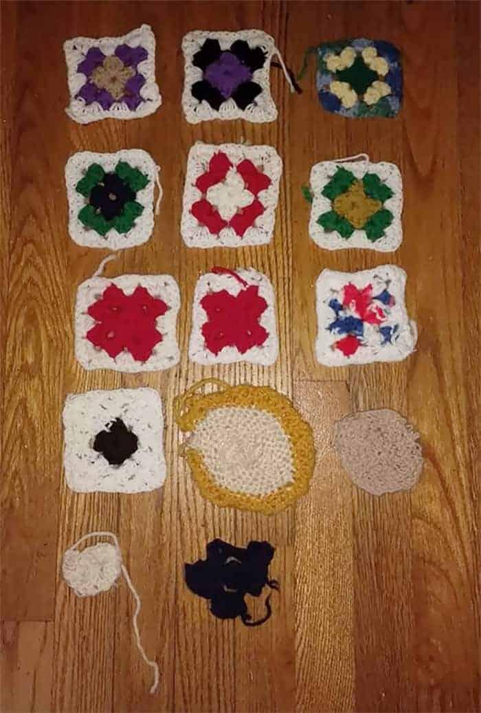 Progression of skills loss in crochet as Alzheimer's sets in