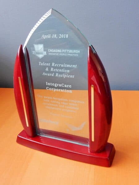 Engaging Pittsburgh Talent and Retention award for IntegraCare Senior Living's CAR Program