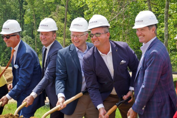 John Degen, 4th from left, at ceremonial ground breaking for Bay Village Assisted Living in Annapolis, MD