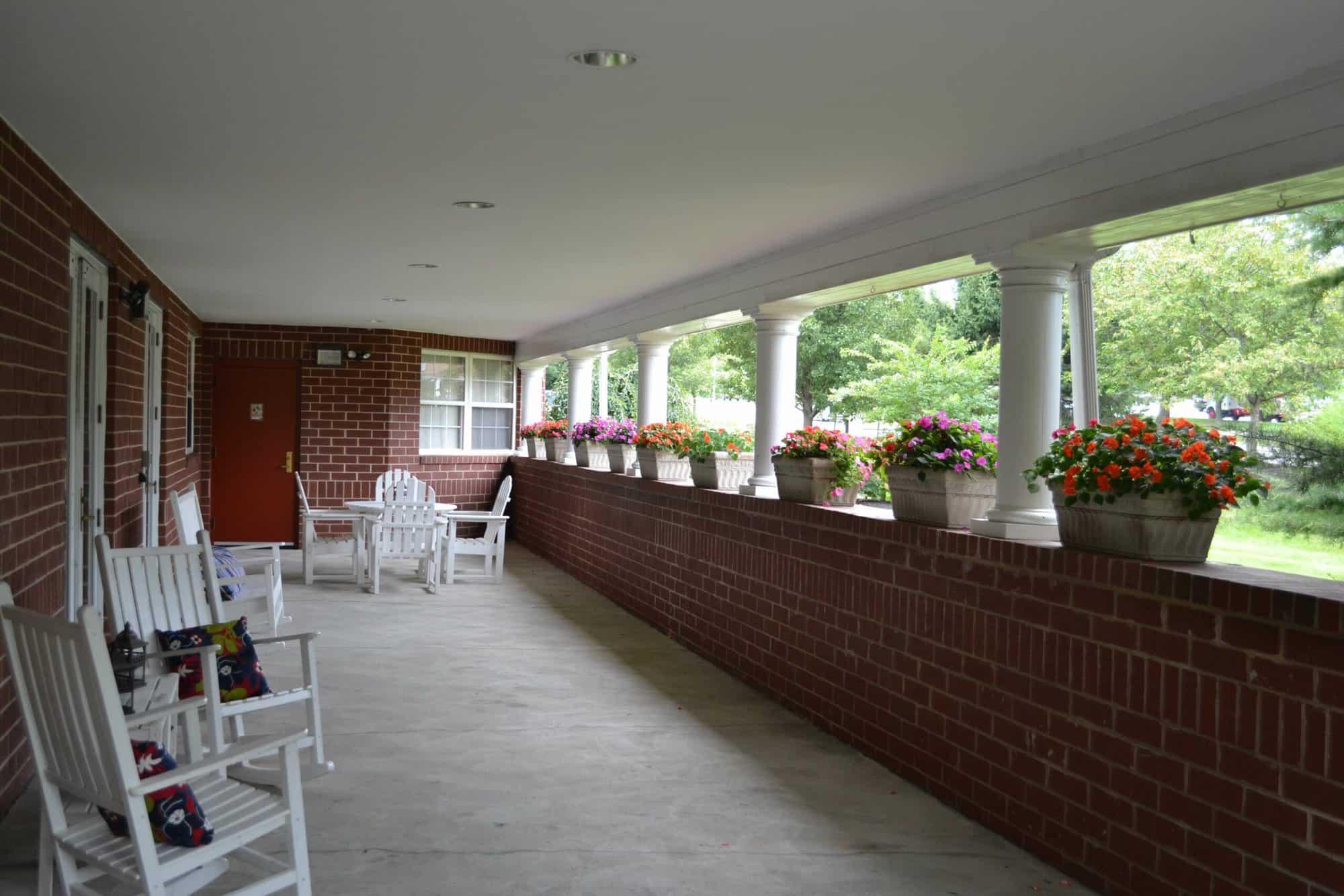 exton senior living porch